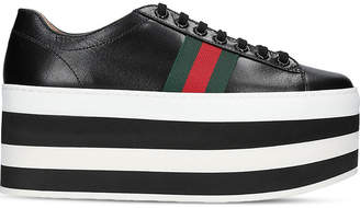 Gucci Peggy leather platform trainers