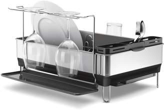 Simplehuman Dishrack with wine glass holder