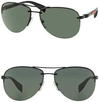 Prada Linea Rossa 65mm Pilot Aviator Sunglasses