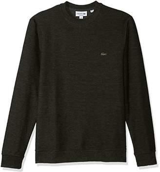 Lacoste Men's Long Sleeveheather Slubbed Jaspe Fleece Cotton/Stretch Tee