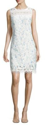 Elie Tahari Ramira Printed Scalloped Dress $348 thestylecure.com