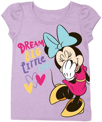 Freeze Minnie Mouse Dream Big Little One Tee (Toddler Girls)