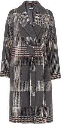 Whistles Check Magdelina Belted Coat