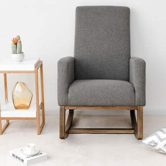 Wrought Studio Raya Mid Century Upholstered Rocking Chair