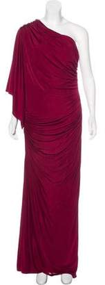 Yigal Azrouel Ruched One-Shoulder Gown