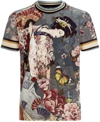 Dolce & Gabbana Geisha Print T-Shirt