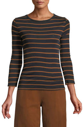 Vince Classic Striped Crewneck Top
