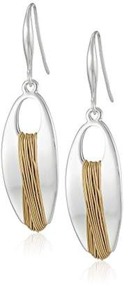 "Robert Lee Morris Spun Metal"" Wire Wrapped Oval Drop Earrings"
