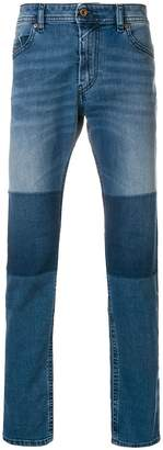 Diesel patchwork slim jeans