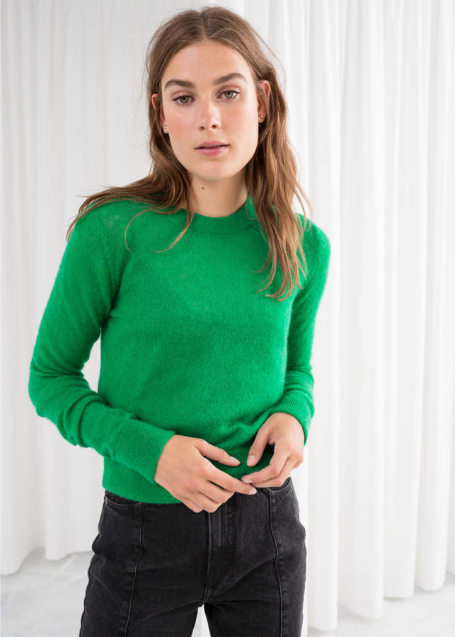 Sheer Wool Blend Sweater