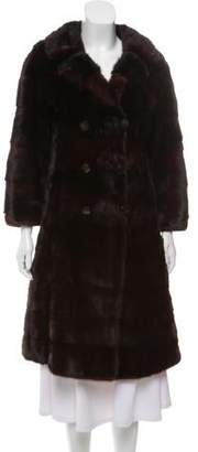 Fur Double-Breasted Fur Coat
