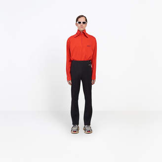 Balenciaga Fitted cropped jogger pants with high elastic waist