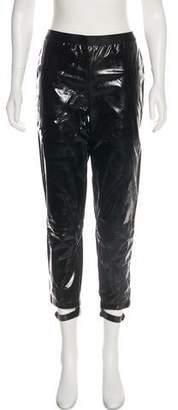Les Chiffoniers Patent Leather Mid-Rise Straight-Leg Pants w/ Tags