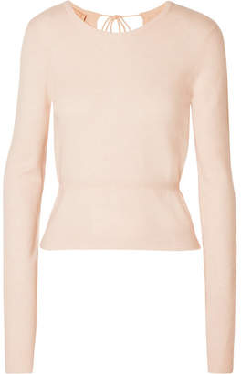 Brock Collection Open-back Cashmere Sweater - Pastel pink