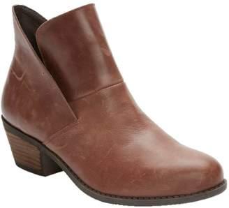 Me Too Block Heel Leather Ankle Boots - Zena