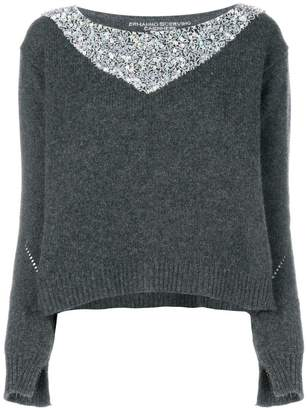 Ermanno Scervino embellished contrast sweater