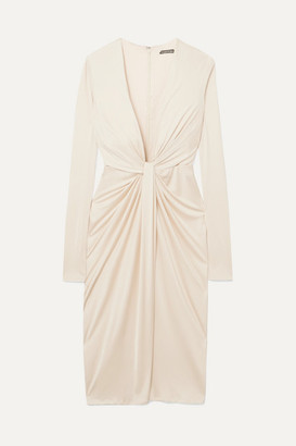 Tom Ford Twist-front Satin-jersey Dress