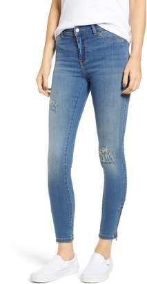 Denim & Supply Ralph Lauren Dr. Denim Supply Co. Domino Distressed Zip Hem Skinny Jeans