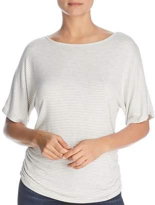Elan International Striped Side-Ruched Top