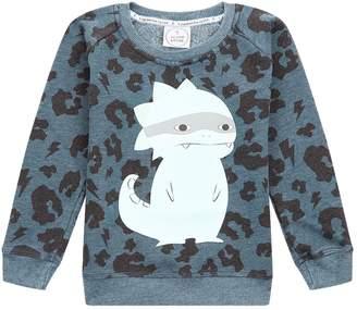 Scamp & Dude Leopard Print Super Dino Sweatshirt
