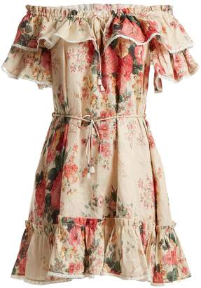 Zimmermann Laelia floral-print linen dress
