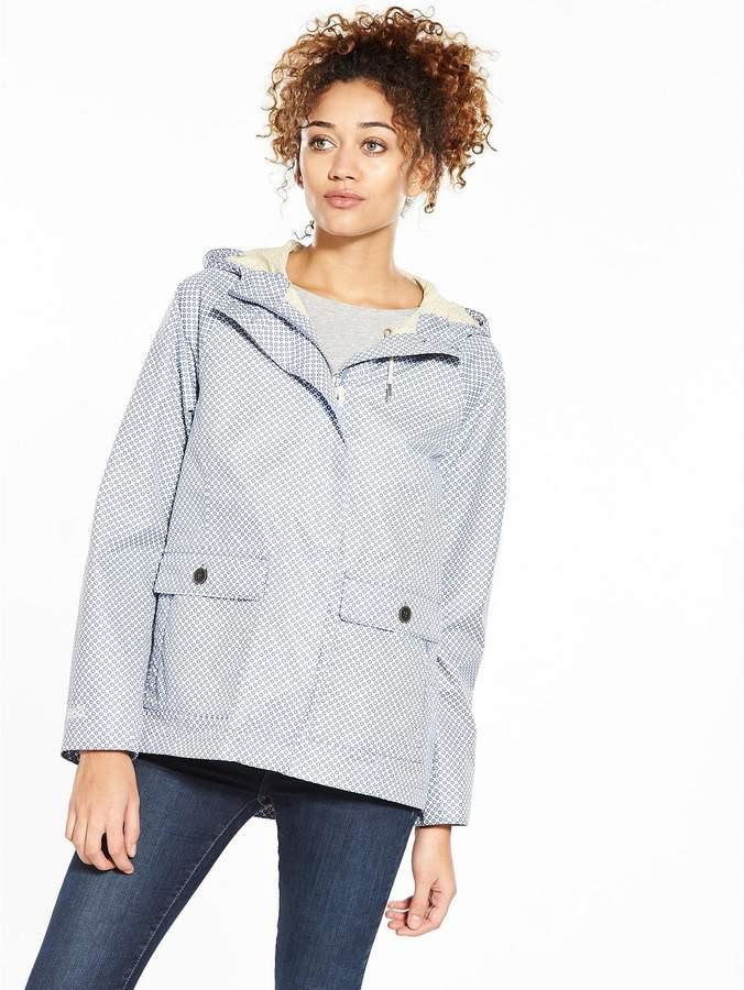 Victoria Hooded Printed Waterproof Jacket
