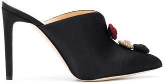Chloé Gosselin button embellished mules