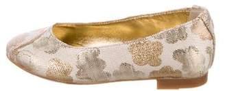 Dolce & Gabbana Girls' Brocade Ballet Flats