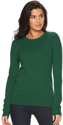 Women's Apt. 9® Cashmere Crewneck Sweater $120 thestylecure.com