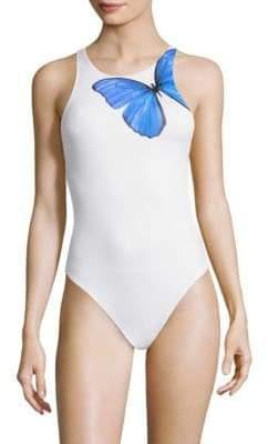 Onia Yvette One-Piece Butterfly Swimsuit
