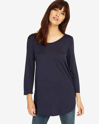 Phase Eight 3/4 Sleeve Cam Circle Hem Top