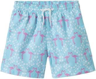 Stella Cove Pink Flamingo Swim Trunks