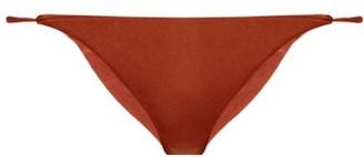 JADE SWIM Bare Low Rise Bikini Briefs - Womens - Dark Red