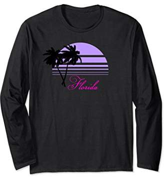 Palms Purple Sunset Pink Florida Long Sleeve T-Shirt