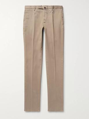 Incotex Four Season Slim-Fit Cotton-Blend Chinos - Men - Neutrals