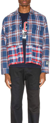 Americana Reese Cooper Double Layered Flannel Shirt in | FWRD