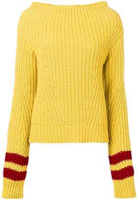 MSGM stripe detail sweater