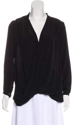 Calypso Silk Long Sleeve Blouse