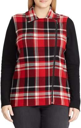 Chaps Plus Straight-Fit Plaid Cotton Vest