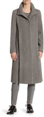 Akris Women's Long Stand Collar Wool-Blend Coat