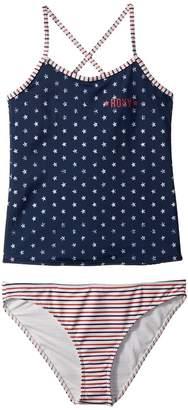 Roxy Kids Surfing USA Tankini Set Girl's Swimwear Sets