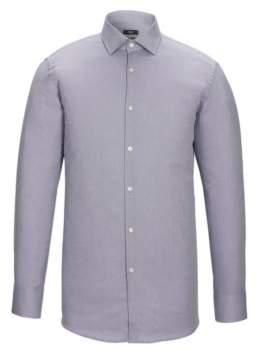BOSS Hugo Nailhead Cotton Dress Shirt, Sharp Fit Marley US 18/R Grey
