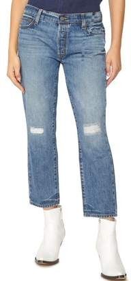 Sanctuary Disrupt Ripped & Repaired Boyfriend Jeans (Flat Iron Rigid)