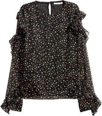 H&M Blouse with Flounces - Black