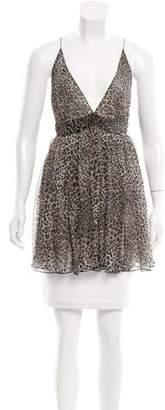 Beau Souci Leopard Print Silk Tunic w/ Tags