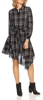 1 STATE 1.STATE Capital Plaid Shirt Dress