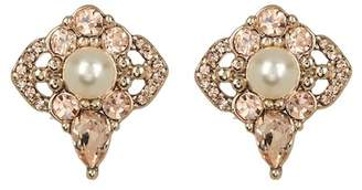 Jenny Packham Crystal & Imitation Pearl Cluster Stud Earrings