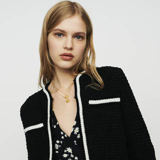 Maje Cropped wool cardigan