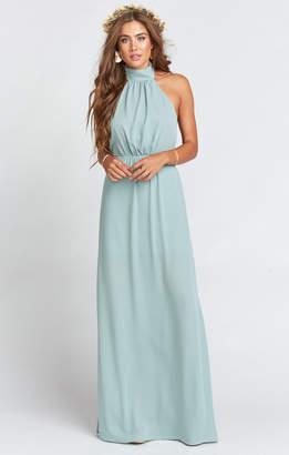 Show Me Your Mumu Collette Collar Dress ~ Silver Sage Crisp