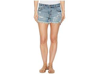 Free People Embroidered Destroyed Shorts Women's Shorts
